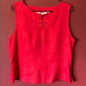Ishyu red linen blouse
